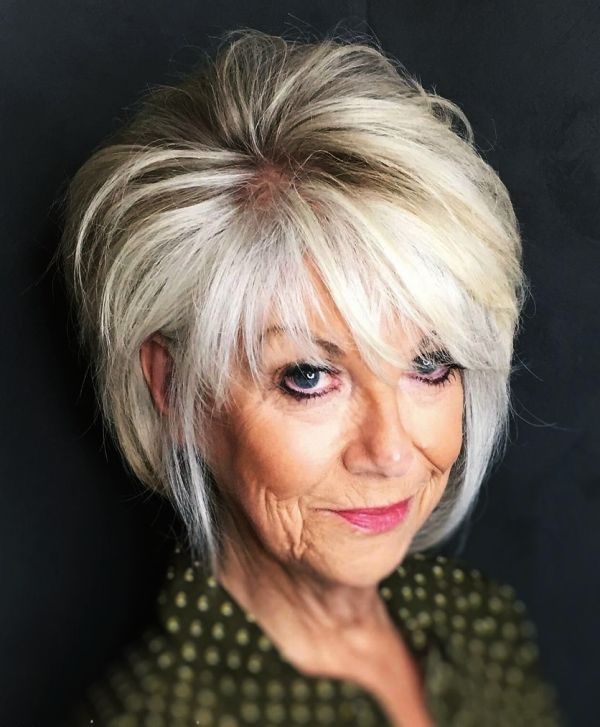 70 Anti-Aging Short Hairstyles for Older Women #shortlayeredhairstyles