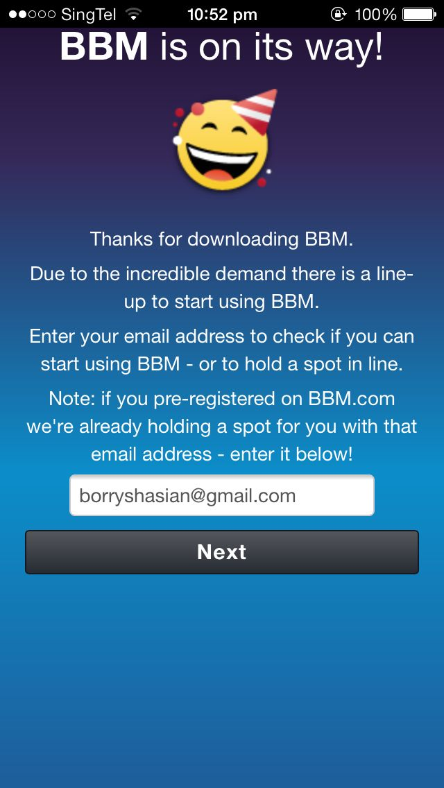 Opening Bbm App On Ios In 2013 Is Like Traveling Back In Time To