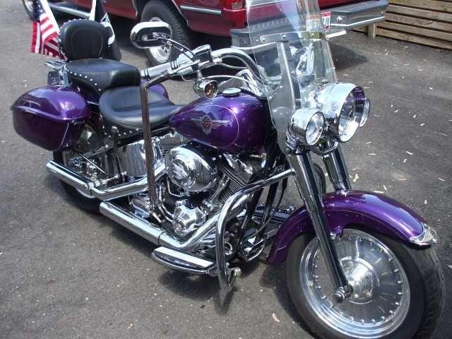 Purple Harley Fatboy Harley Harley Davidson Fatboy Harley Fatboy