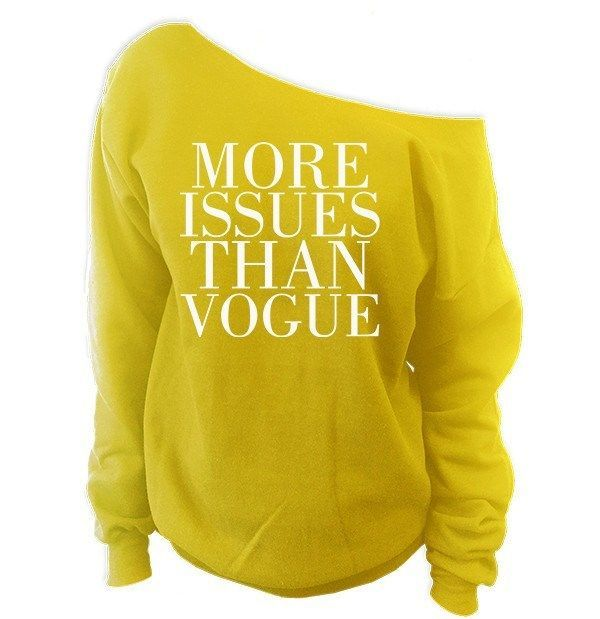 62cb484cc More Issues Than Vogue Off-The-Shoulder Oversized Slouchy Sweatshirt ...