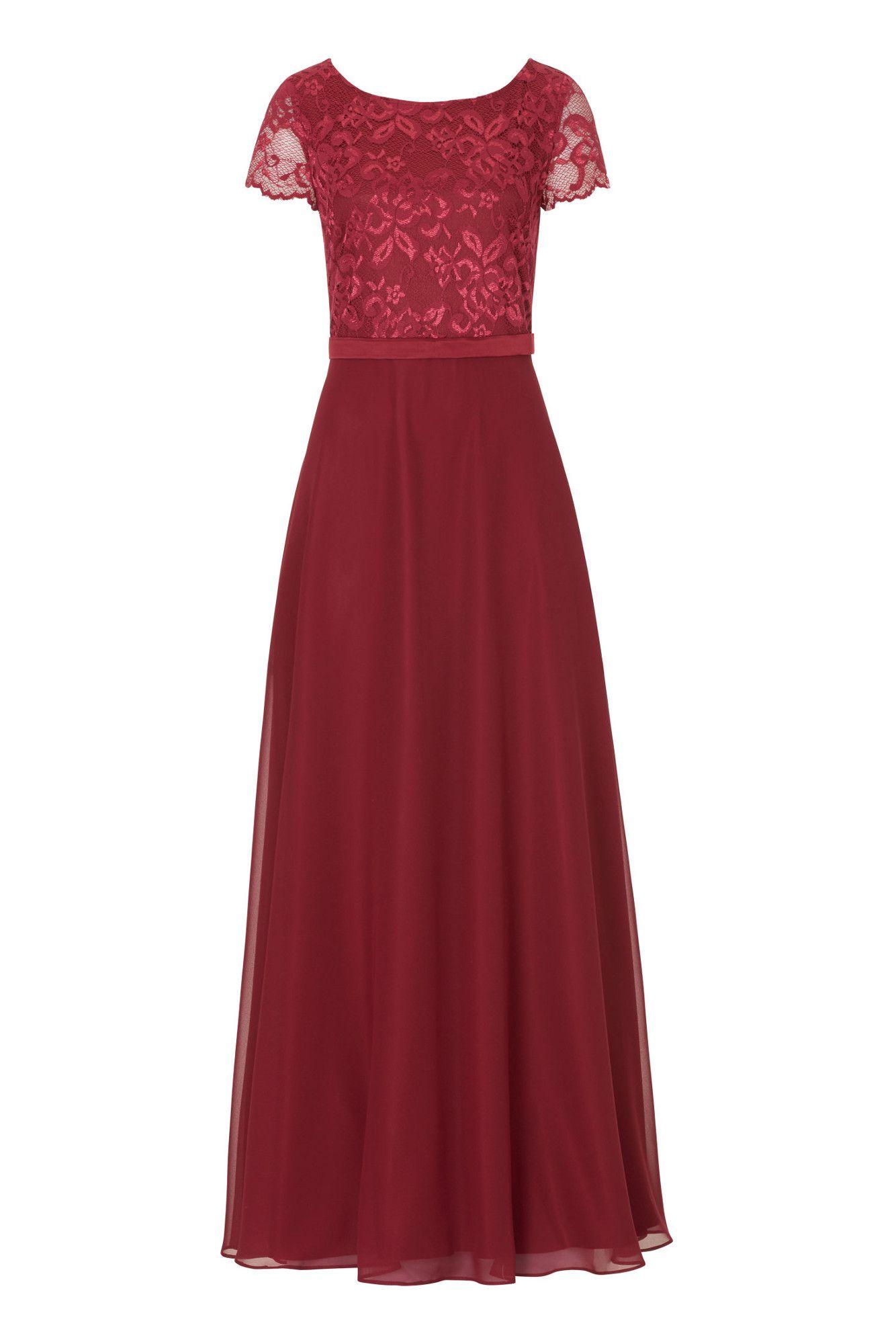 Abendkleid mit weicher Spitze Langes Kleid von Vera Mont ...