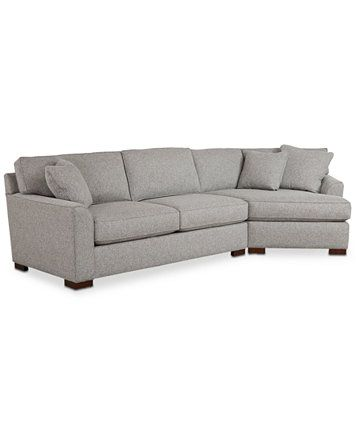 Best Closeout Carena 2 Pc Fabric Sectional Sofa With Cuddler 400 x 300