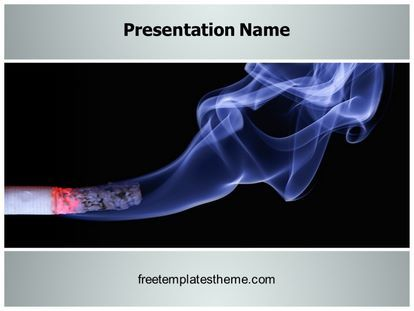 Download #free #Cigarette #Smoke #PowerPoint #Template for your