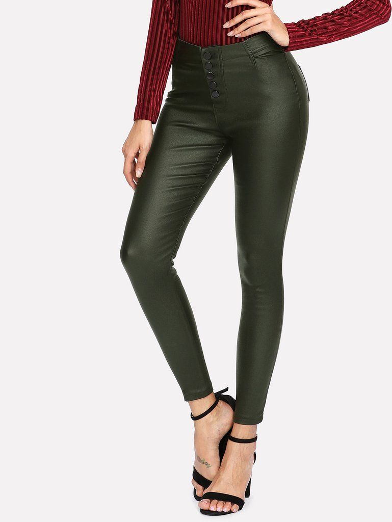 4f67b2d830a6 Women's Skinny PU Pants   Pants   Leather Pants, Faux leather pants ...