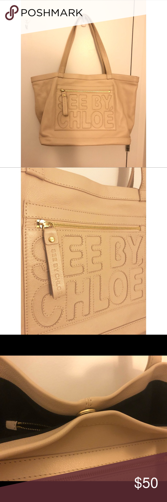 See By Chloe tote bag ivory See by Chloe tote bag  Only use less than three times Just as new See By Chloe Bags Totes #seebychloe