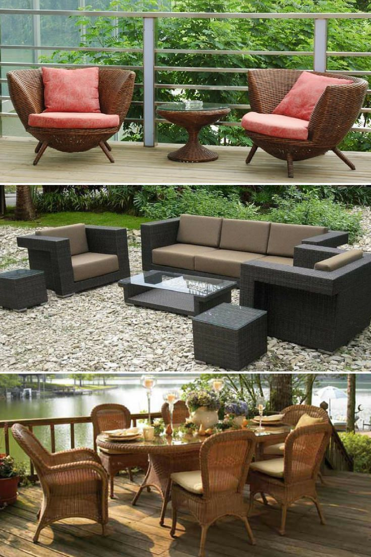 Wicker Patio Furniture Ideas - Trend 2018 #resinpatiofurniture Wicker Patio Furn...#furn #furniture #ideas #patio #resinpatiofurniture #trend #wicker