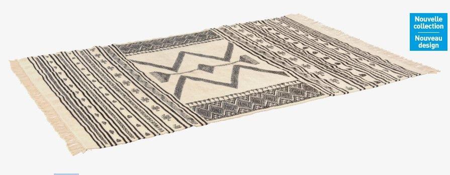 jefuzan tapis tiss laine 170x240 habitat noir et blanc prix tapis habitat 49900 - Tapis Habitat