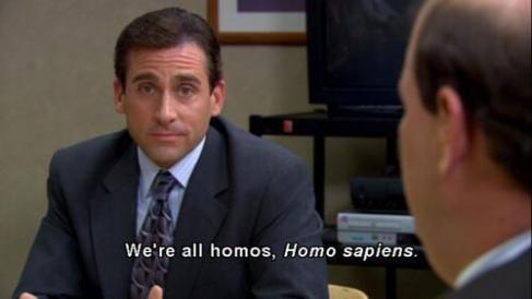 We're all homos…homo sapiens