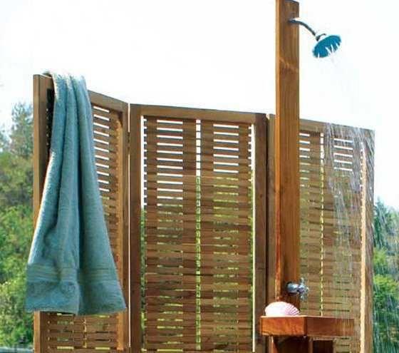 Teak Outdoor Shower Fixtures Outdoor Living Outdoor Shower