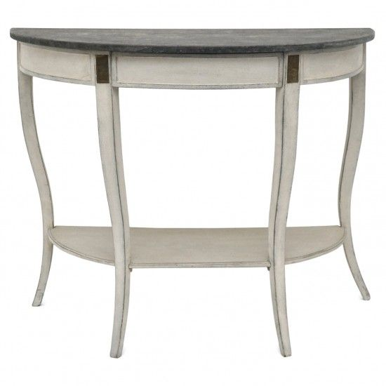 Photo of Painted Demi-Lune Console Table