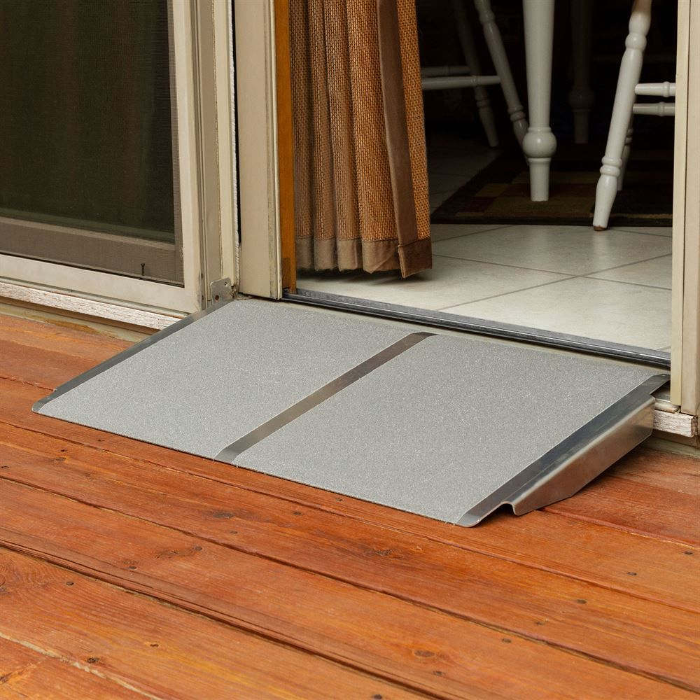 Silver Spring Aluminum Solid Threshold Ramp In 2020 Wheelchair