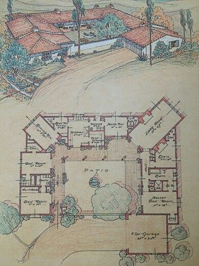Cliff may and the california home reminds me of the old for Spanish style ranch house plans