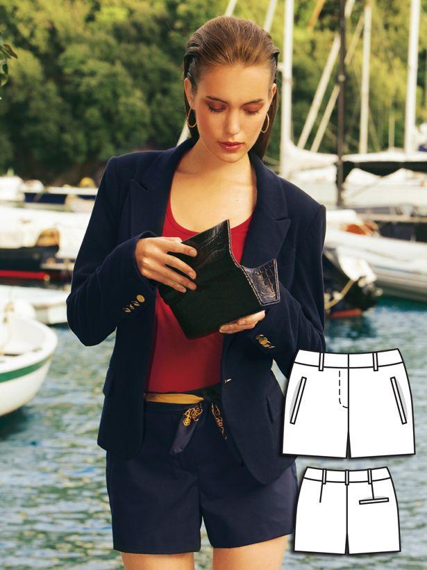 Poplin Shorts 02/2011 #122A #burdastyle #sewing #diy #sew #pattern