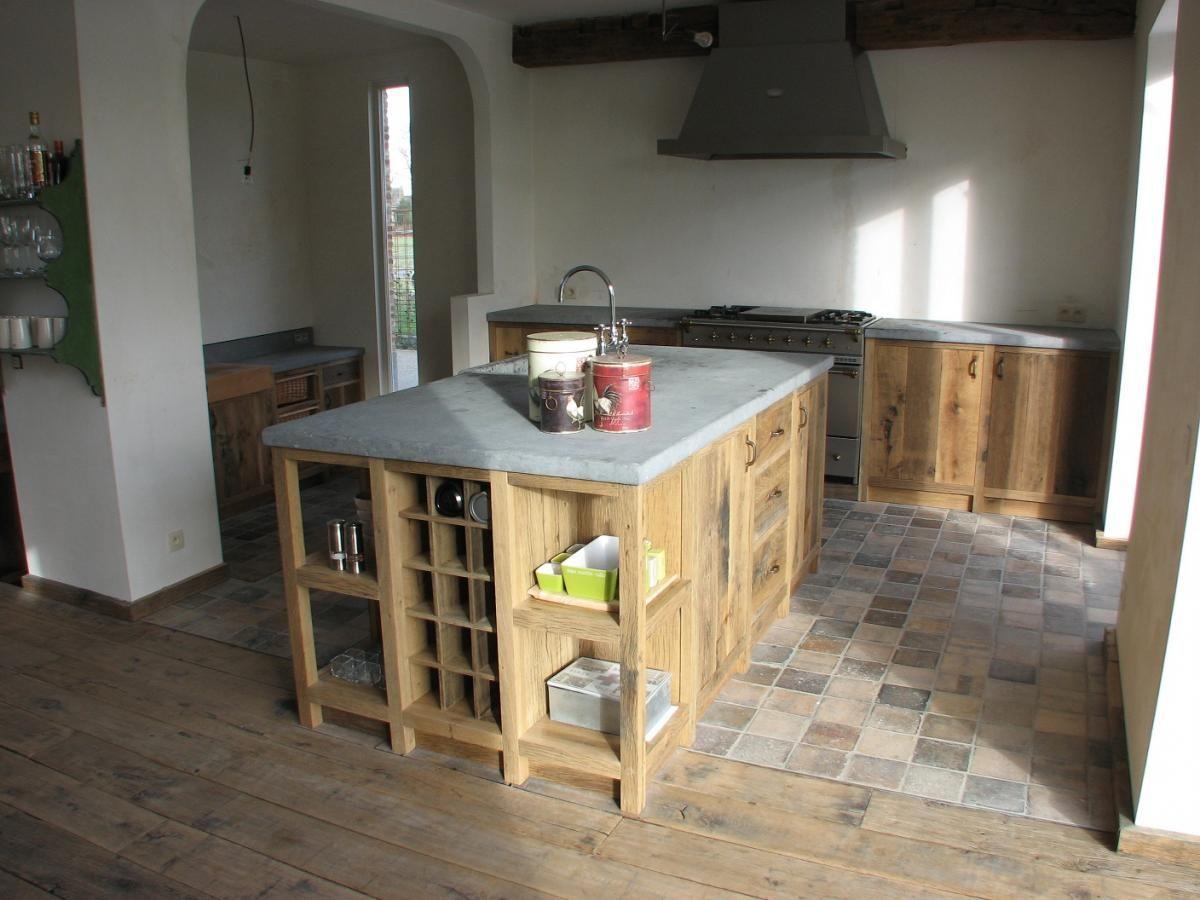 Keuken in oude planken | la-vie-en-bois.be
