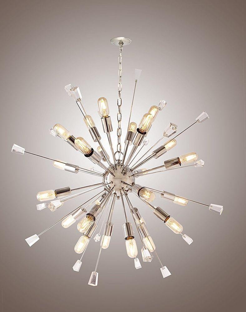 Large Mid Century Modern Sputnik Light Fixture Italian