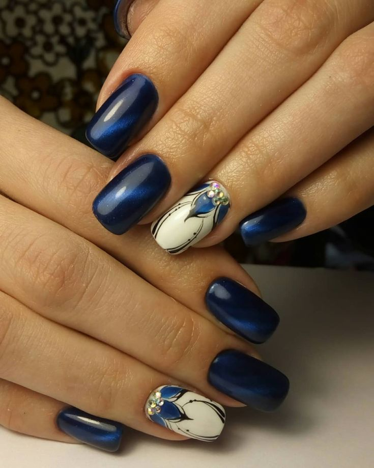 90+ Inspirational Blue Nail Art Designs And Ideas Spring