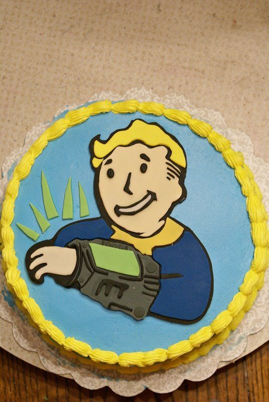 Fallout Shelter Edible Image cake Topper Fast shipping!!!!
