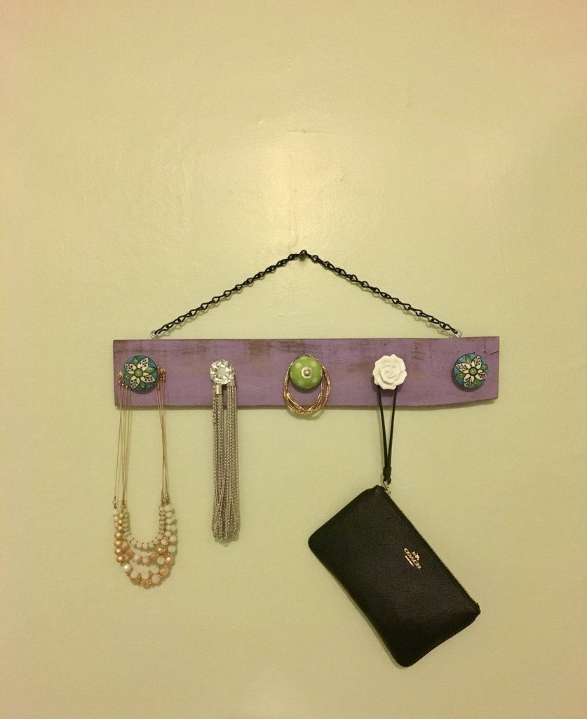 Jewelry Organizer with Purple Finish-Necklace Hanger | Pallets ...