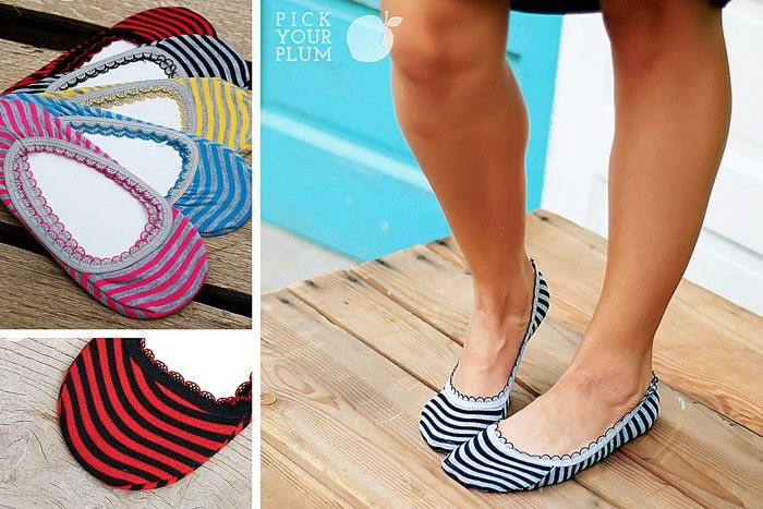 Close-Toe Shoe Season is Upon Us! Striped Lace Trim Socks for 71% Off! pickyourplum.com #socks