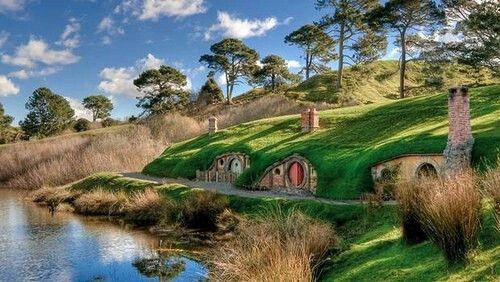 Hobbiton En Nueva Zelanda Hobbit House The Hobbit Underground Homes