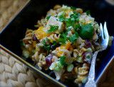 fruited chicken and pasta salad