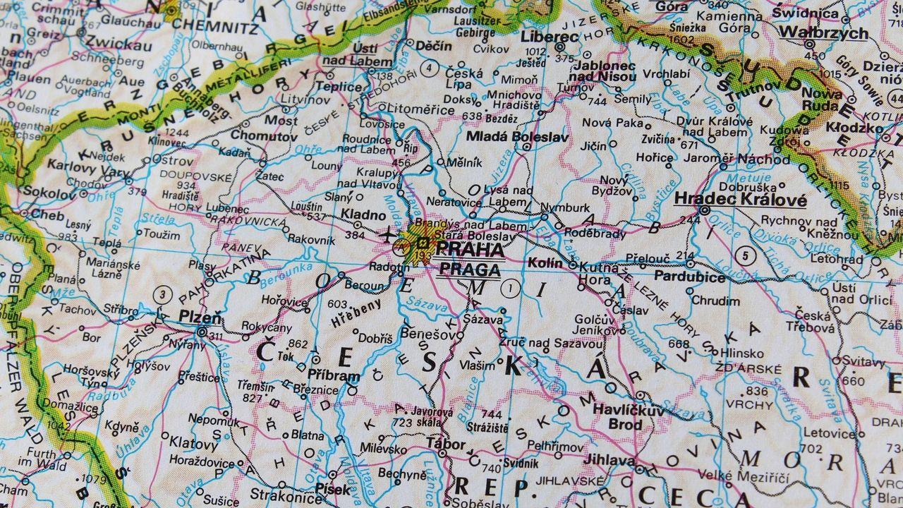 Karte Tschechien.Wallpaper Karte Prag Reise Tschechische Republik As In 2019