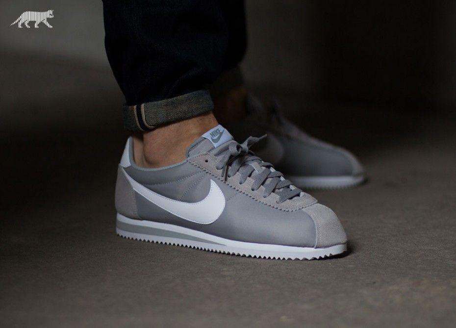 Women Nike Classic Cortez Nylon PRM Grey Camouflage Shoes