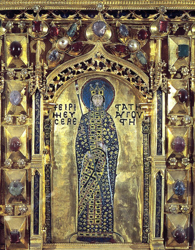 Venice pala d 39 oro detail byzantine empress irene of for Pala de oro