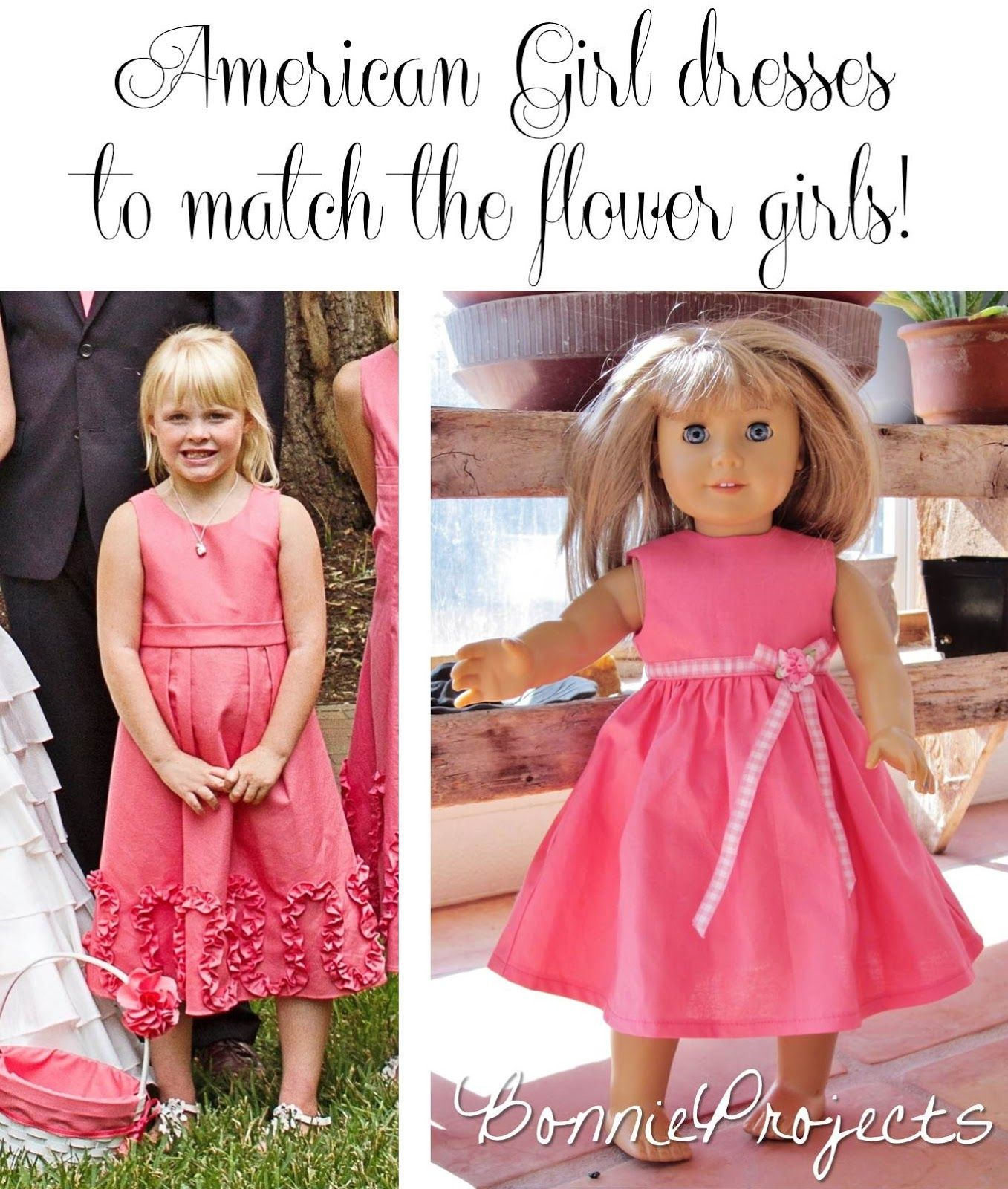Bonnie Projects: Matching dresses for the flower girls dolls! #AmericanGirl