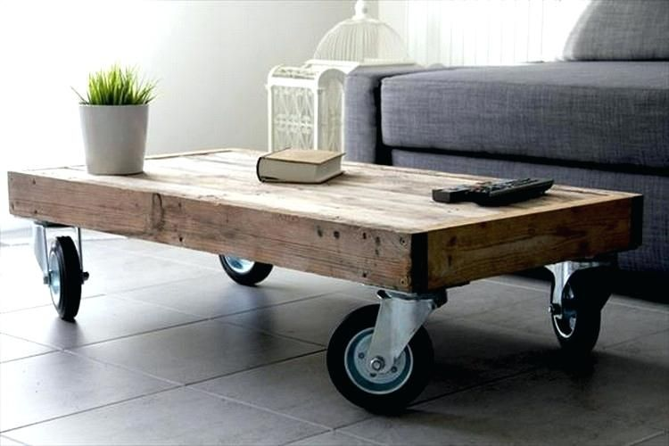 Image result for Modern coffee table with casters
