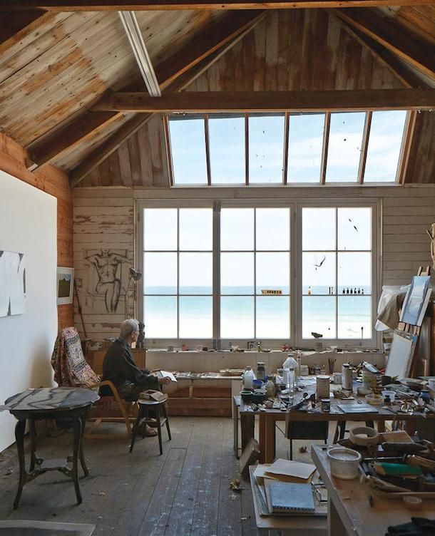 small attic office workshop la maison boheme the sea is always calling artists studios