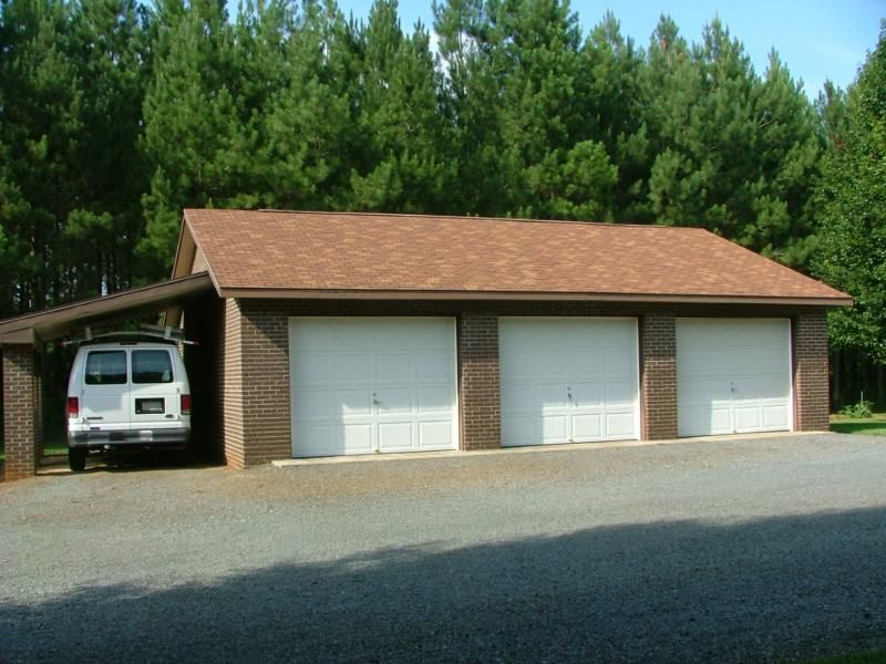 Detached 1 2 And 3 Car Garages In Nc: Custom Built Brick Home With 3-Bay Detached Garage!