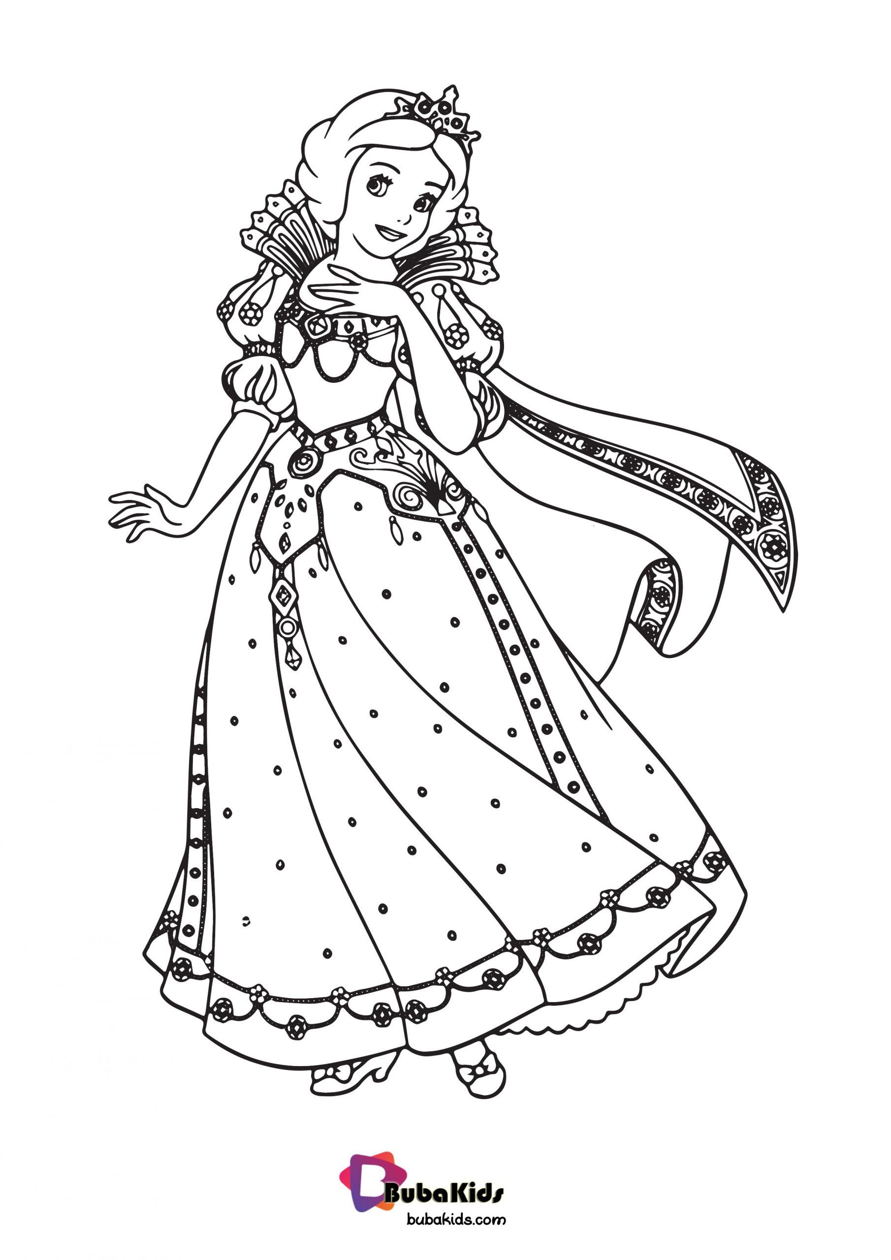 Princess Cinderella Coloring Page For Kids Collection of cartoon ...