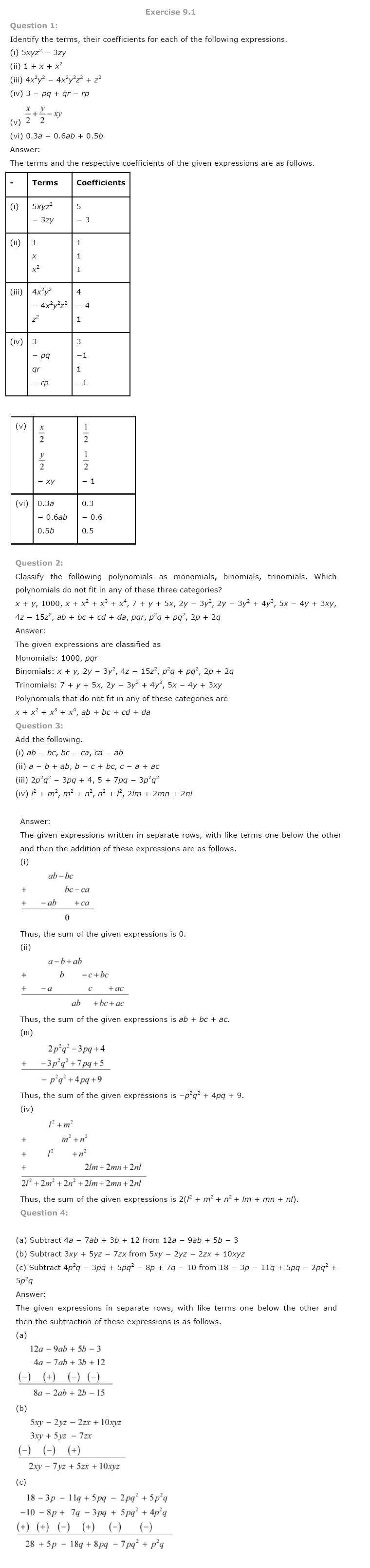 Ncert Solutions For Class 8 Maths Ch 9 Algebraic Expressions And Identities Pdf Download Algebraic Expressions Maths Solutions Math [ 3216 x 760 Pixel ]