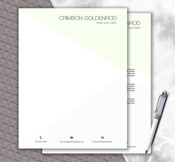 Personalized Letterhead Template Download  Printable Stationery