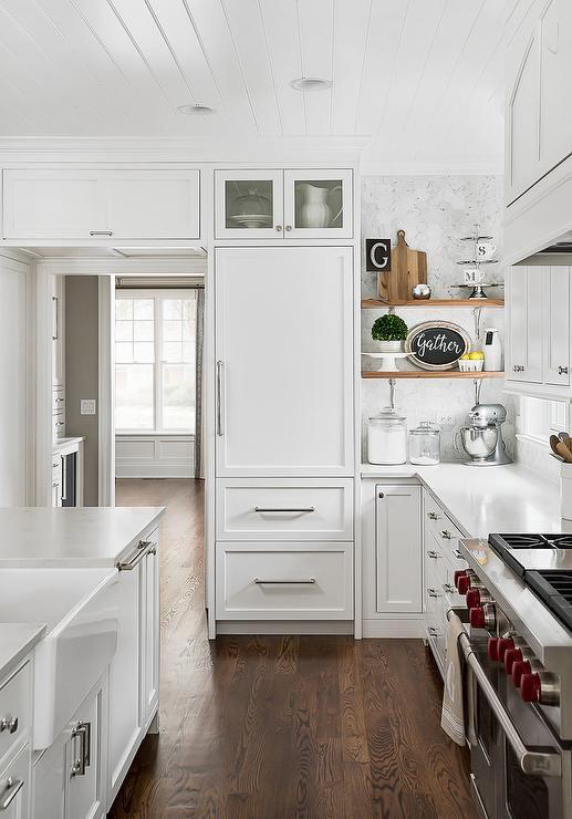Colores cocina blanco y madera HSHome Pinterest Cocinas