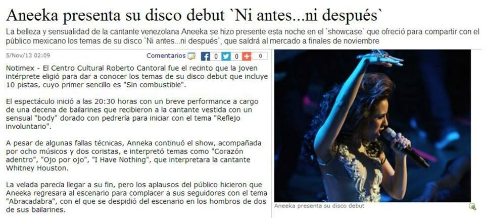 Aneeka- Ni Antes Ni Despues www.aneekamusic.com facebook.com/aneekamusic @Aneeka Music