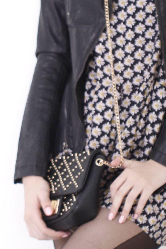 Lovely Studded Satchel Bag