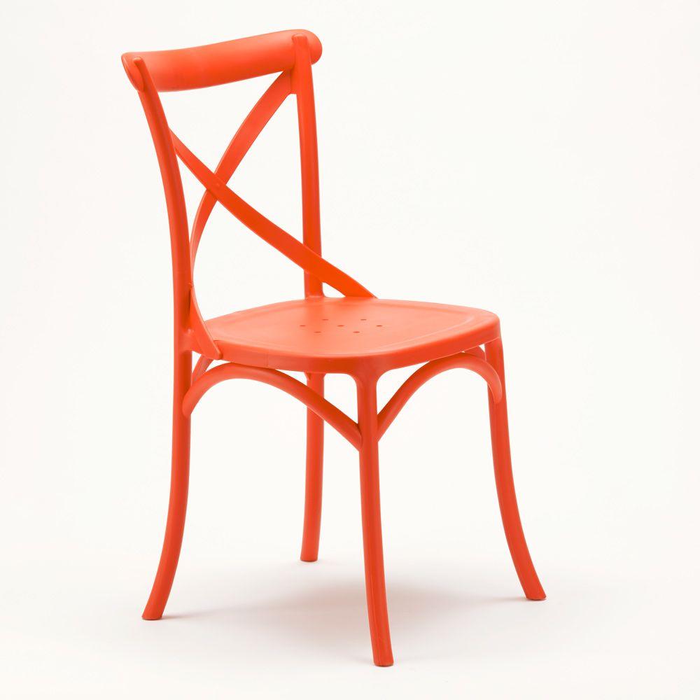Chaise De Cuisine Restaurant En Polypropylene Vintage Paysan Cross Design Chaises Design Moderne Chair Design Vintage Chairs Chair