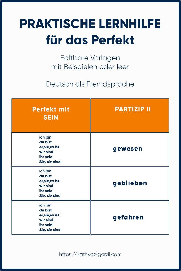lernhilfe perfekt pr teritum f r deutsch und daf daz niveau a1 a2 unterrichtsmaterial in den. Black Bedroom Furniture Sets. Home Design Ideas