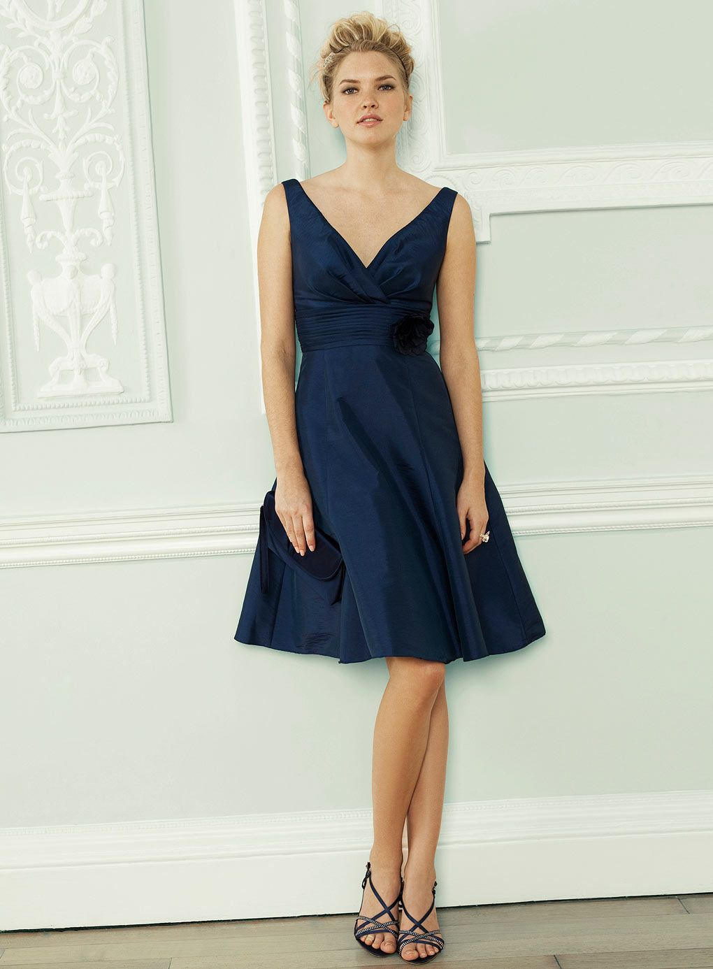 Cecily Sapphire Taffeta Bridesmaid Dress | Bridesmaid Dresses ...