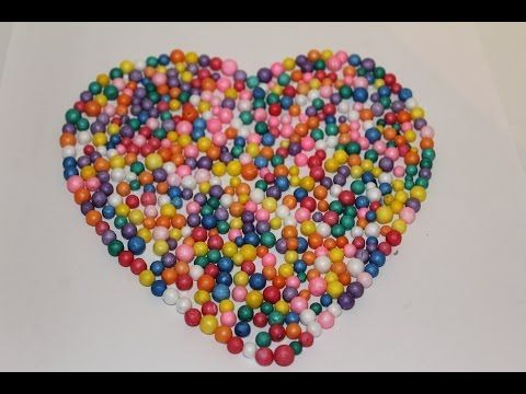 How To Make a heart with Thermocol Balls - YouTube | I want