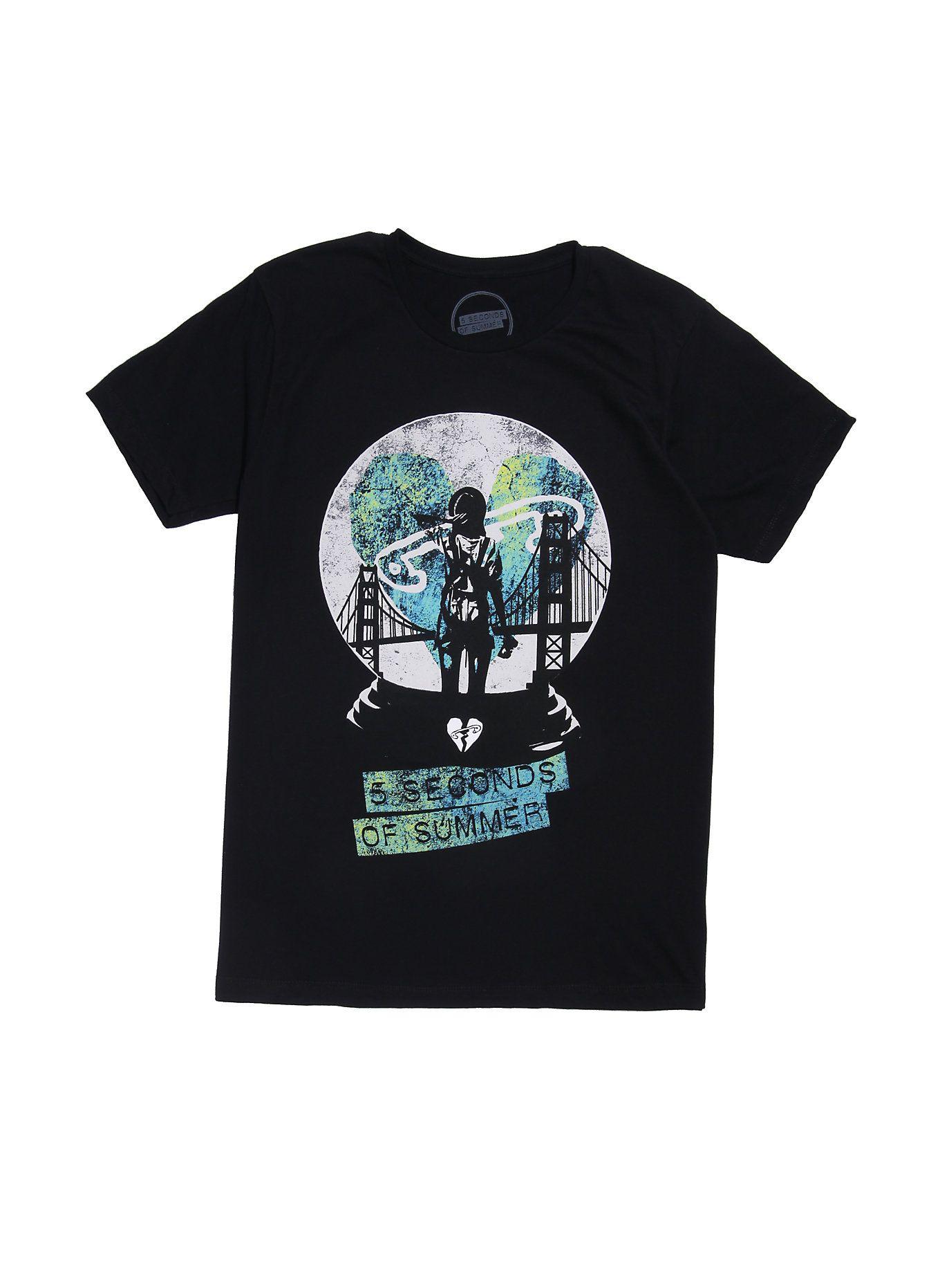 5 Seconds Of Summer Snow Globe T Shirt Band Merch 5 Seconds Of