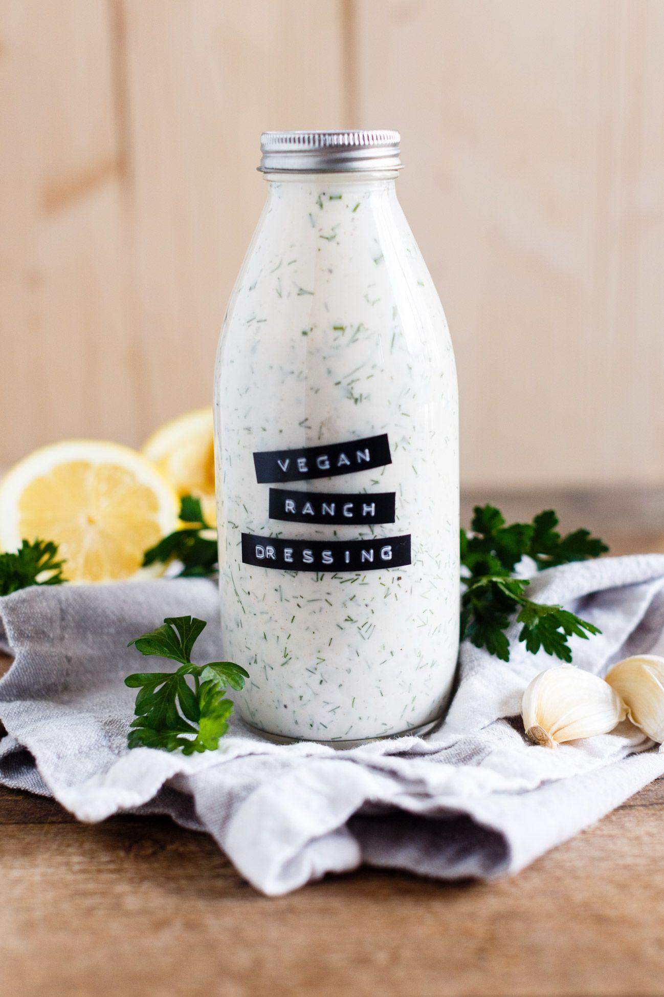 Vegan Ranch Dressing Recipe Vegan Foodies Pinterest