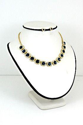 Sparkle Sapphire Necklace Set