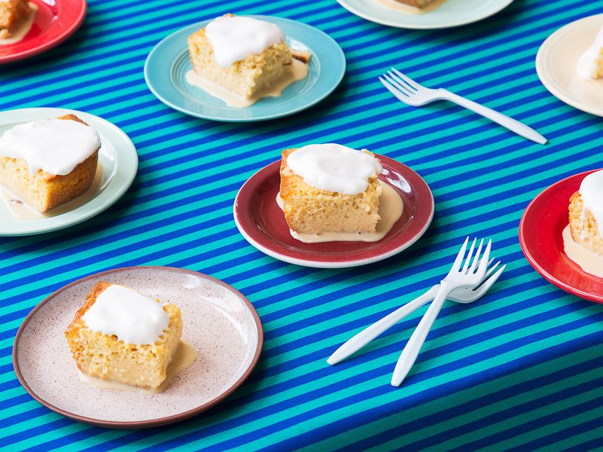 Pastel de Tres Leches (Sponge Cake with Three Milks)