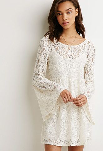 27 90 Bell Sleeved Lace Dress Forever 21 2049258111 Partially Lined Knit Shell 61 Cotton 33 Nylon 6 Rayon Lining 100