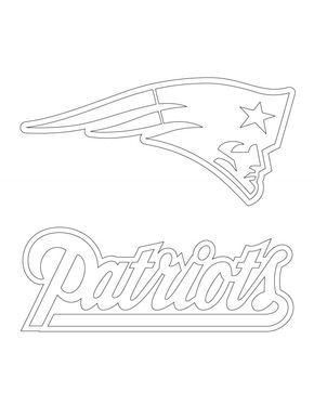 New England Patriots Logo Coloring Page New England Patriots