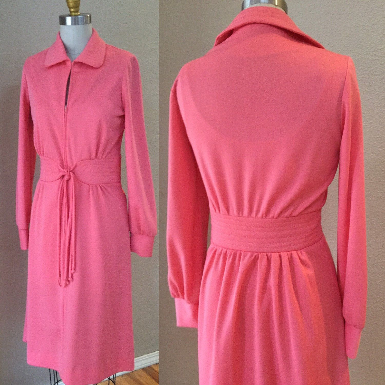 Vintage Pink Party Dress, 60\'s Pin Up, Mad Men Style Dress. Petite ...