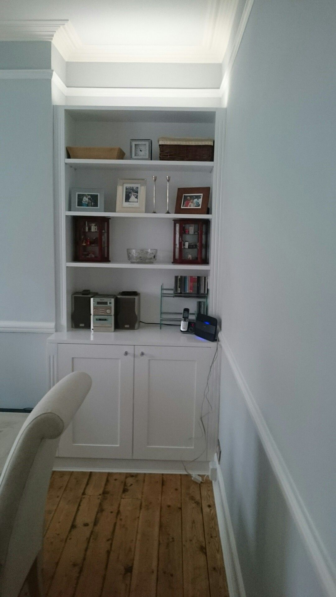 White Alcove Cupboards, F+B Skylight And Borrowed Light On Walls